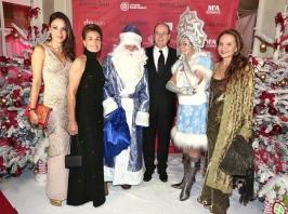 2014 Christmas Ball - Sandrine Garbagnati, Celina Lafuente de Lavotha, HSH Prince Albert II of Monaco and Donatella Campioni