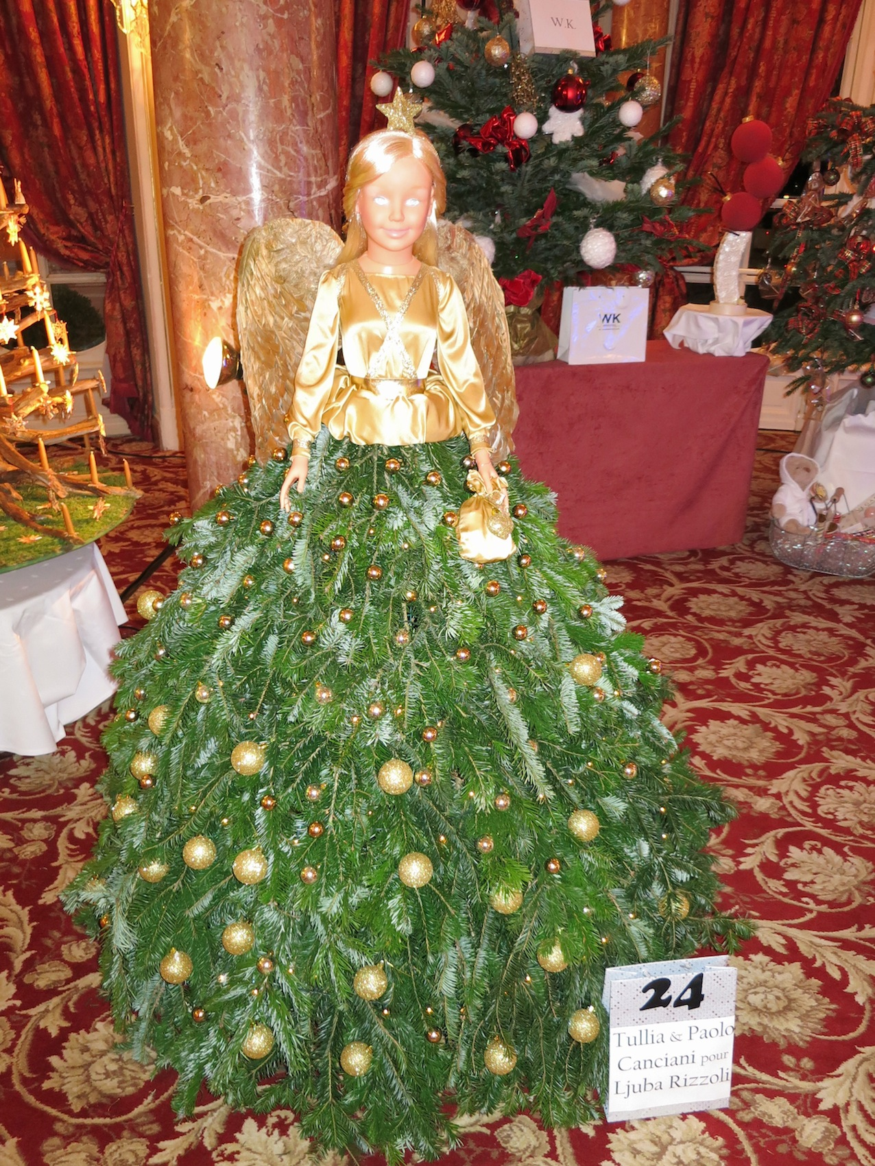 Angel Of Christmas.Tree No 24 Ljuba Rizzoli 22the Angel Of Christmas 22 With 2