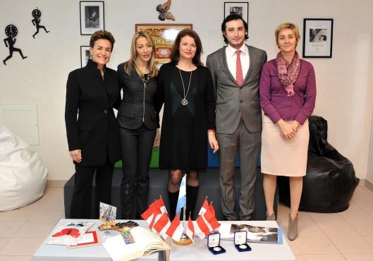 Donors - Celina Lafuente de Lavotha, Francesca Lopez de la Osa, Isabelle Bonnal, Flavio Bennini and Mme Moreno