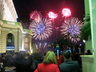 Fireworks lit the sky of the Principality