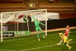 Danijel Subasic deflected the shot from The Canaries @CelinaLafuenteDeLavotha