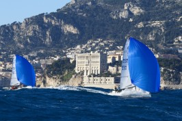 J70 race with the Oceanographic Museum in the background @Franck Terlin