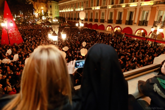 More than 2000 people gathered at the open market in Monaco @Edwright Images