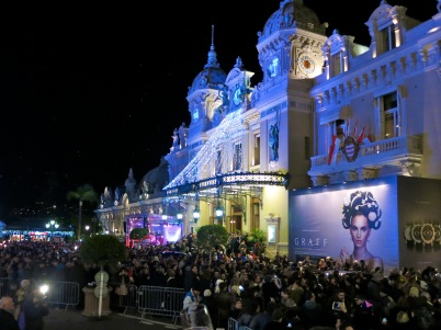 The revelers at the Casino Square in Monte-Carlo