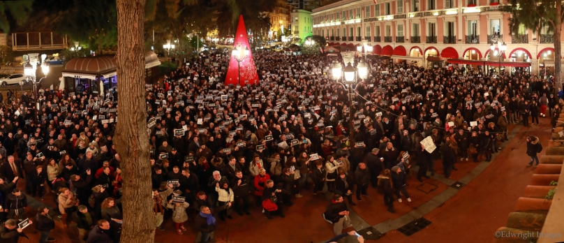 View of the market square in Monaco on January 8, 2015 @Edwright Images