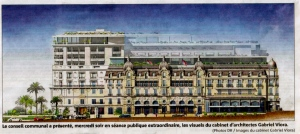 An image of the new project for the Hotel de Paris, 2014 @DR Imges du Cabinet Gabriel Viora