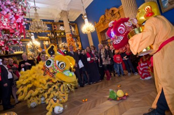 Guests participating in the Chinese New Year festivities at the Oceanographic Museum @M. Dagnino