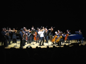 David Lefevre and the Philharmonic Orchestra of Monte-Carlo at the Salle Garnier @CelinaLafuenteDeLavotha