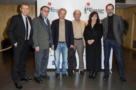 Ezio Greggio, Peter Bogdanovich, Giovanni Veronesi, Claude Zidi, Yllka Mujo and Lee Scott Marshall @ MCFFC