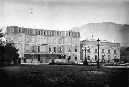 Hotel de Paris in 1866 @Archives Societe des Bains de Mer