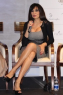 Maria Grazia Cucinotta at the press conference @CelinaLafuenteDeLavotha