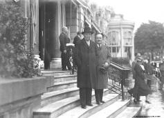 Richard Strauss on the stairs of the hotel de Paris, 1936 @Archives Societe des Bains de Mer