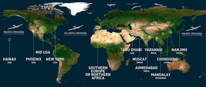 Solar Impulse Si2 Route @Solar Impulse archives