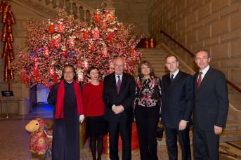 Victor Hwang, Beatrice Calcagno, HE Michel Roger, Leila Elling, Laurent Nouvion and Robert Calcagno @M.Dagnino