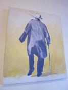 Winston Churchill oil on canvas @CelinaLafuenteDeLavotha