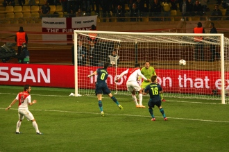 A failed shot on goal by Dirar @CelinaLafuenteDeLavotha