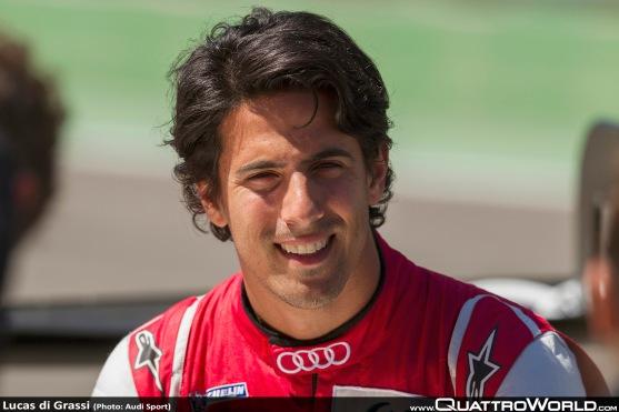 Lucas di Grassi racing for Audi in Formula E
