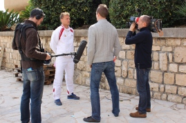 Benjamin Balleret being interviewed by Monaco Info TV @CelinaLafuenteDeLavotha