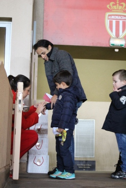 F1 Driver Felipe Massa with his little son at the match @CelinaLafuenteDeLavotha
