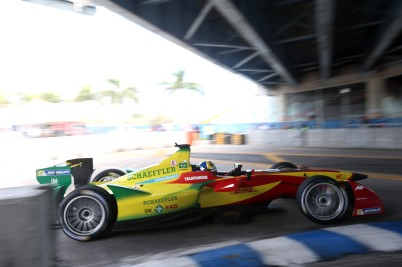 Lucas di Grassi e-car in Miami @P1 Media Relations
