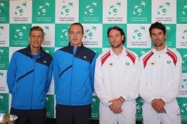 Saturday doubles: Jarkko Nieminen/Henri Kontinen vs Guillaume Couillard/Thomas Oger @CelinaLafuenteDeLavotha