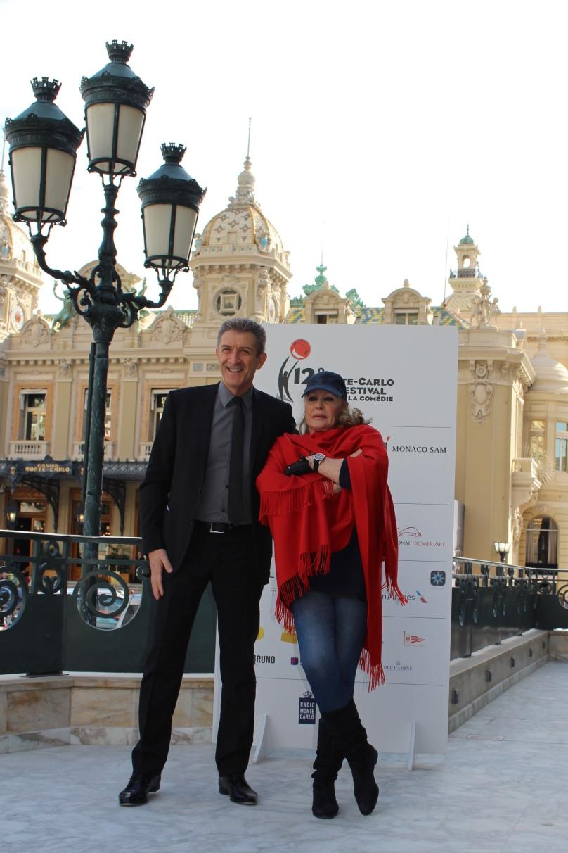 Ezio Greggio and Ursula Andress at the Hotel de Paris @CelinaLafuenteDeLavotha