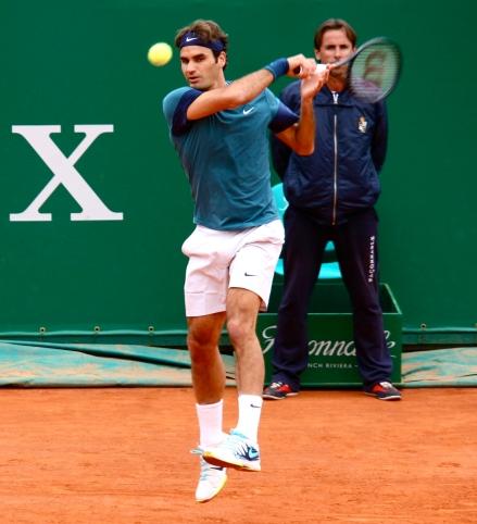 Roger Federer (No.2) at Monte-Carlo Rolex Masters 2014 @CelinaLafuenteDeLavotha