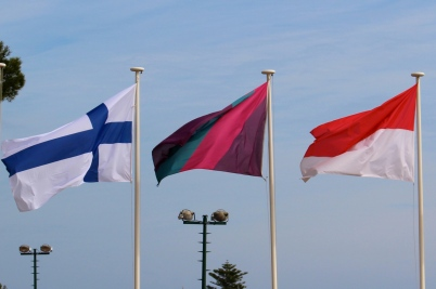 Flags from Finland, the Monte-Carlo Country Club and Monaco @CelinaLafuenteDeLavotha