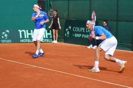 Henri Kontinen (L) & Jarkko Nieminen, the Finnish doubles team @CelinaLafuenteDeLavotha