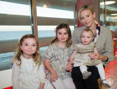 HSH Princess Charlene of Monaco at the inauguration of Munchkins Club @MCM