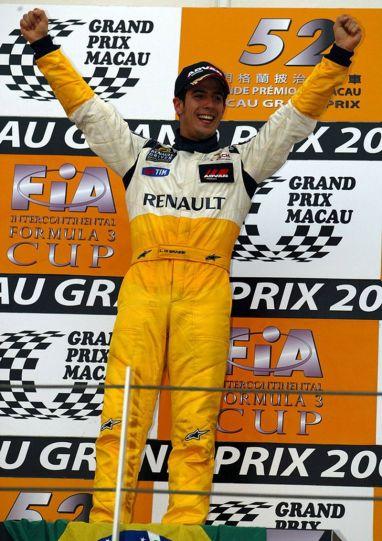 Lucas di Grassi F3 victory in the Grand Prix of Macau