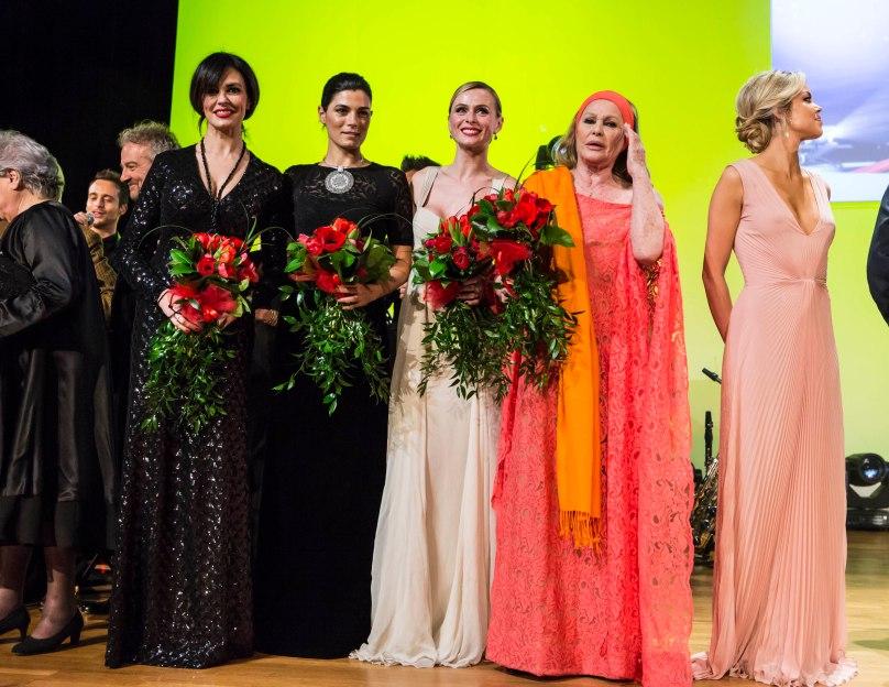 Maria Grazia Cucinotta, Yllka Mujo, Serena Autieri, Ursula Andress and Constanza Caracciolo @MCFFC
