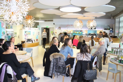 Participants at Naomi's healthy cooking workshop at MCM @CelinaLafuenteDeLavotha