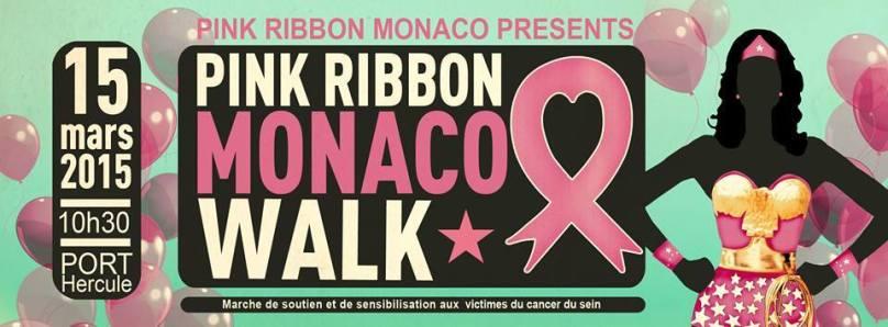 Pink Ribbon Monaco Walk poster