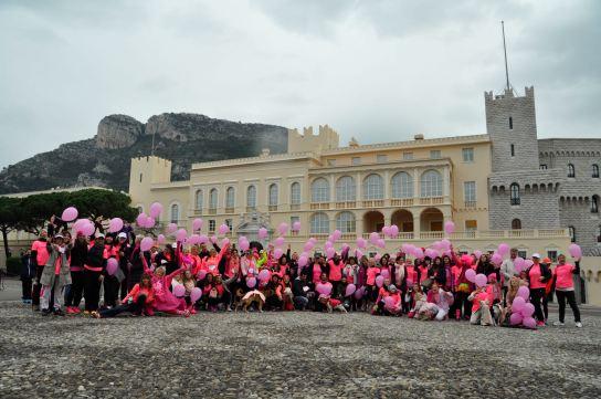 Pink Ribbon Walk group at the Prince's Palace @PRW