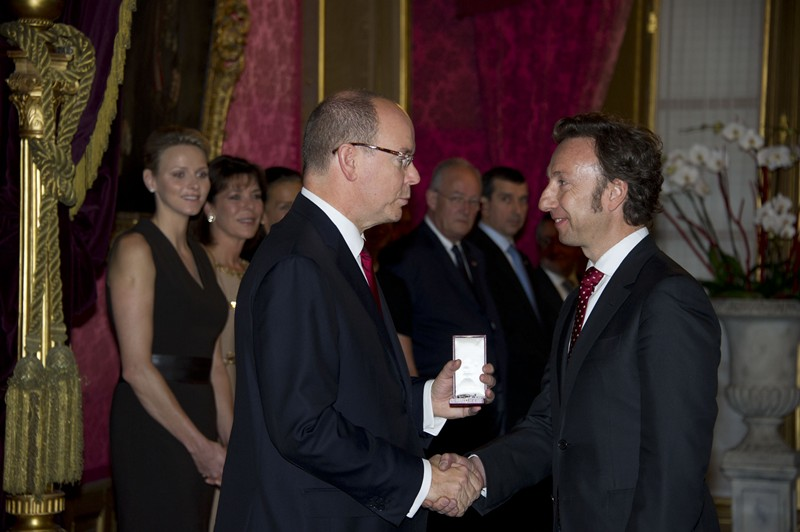 Stephane Bern received the Order of Grimaldi from HSH Prince Albert II @Prince's Palace