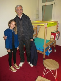 Stephane Magnin with his daughter at his Reading Salon at Villa Sauber @CelinaLafuenteDeLavotha