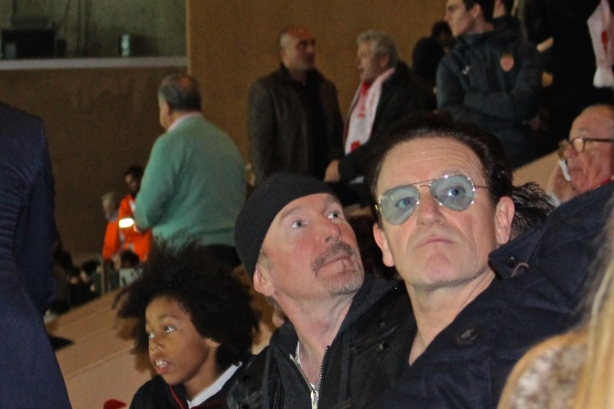 The Edge and Bono from U2 at the match @CelinaLafuenteDeLavotha