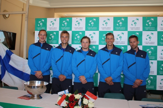 Micke Kontinen, Henrik Sillanpaa, Micke Kontinen, Jarkko Nieminen and captain Kim Tiilikainen @CelinaLafuenteDeLavotha