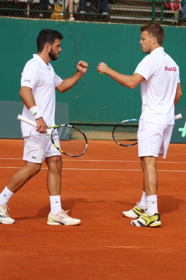Romain Arneodo & Benjamin Balleret at the doubles @CelinaLafuenteDeLavotha