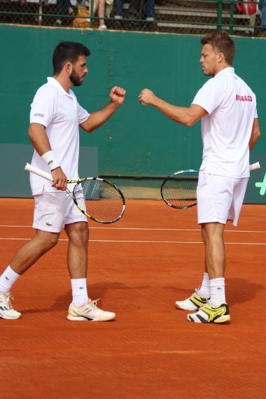 Romain Arneodo & Benjamin Balleret at the doubles @CelinaLafuenteDeLavotha