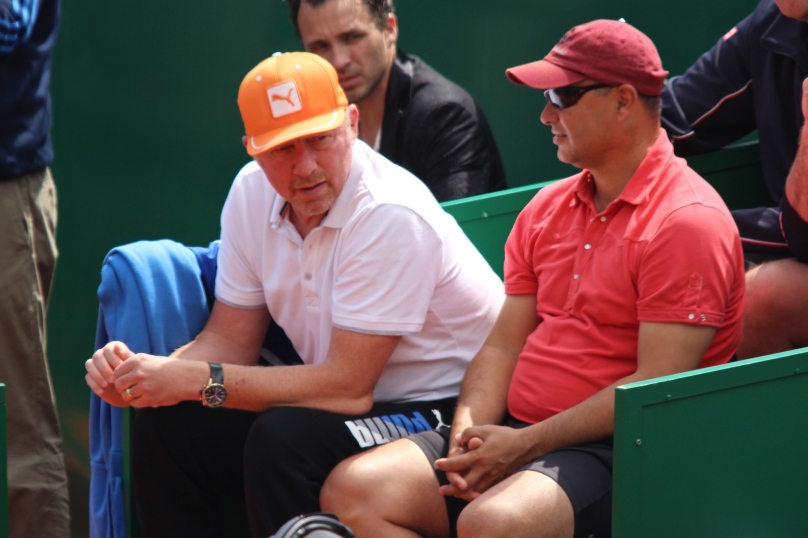 Boris Becker and Marian Vajda in Djokovic's camp @CelinaLafuenteDeLavotha
