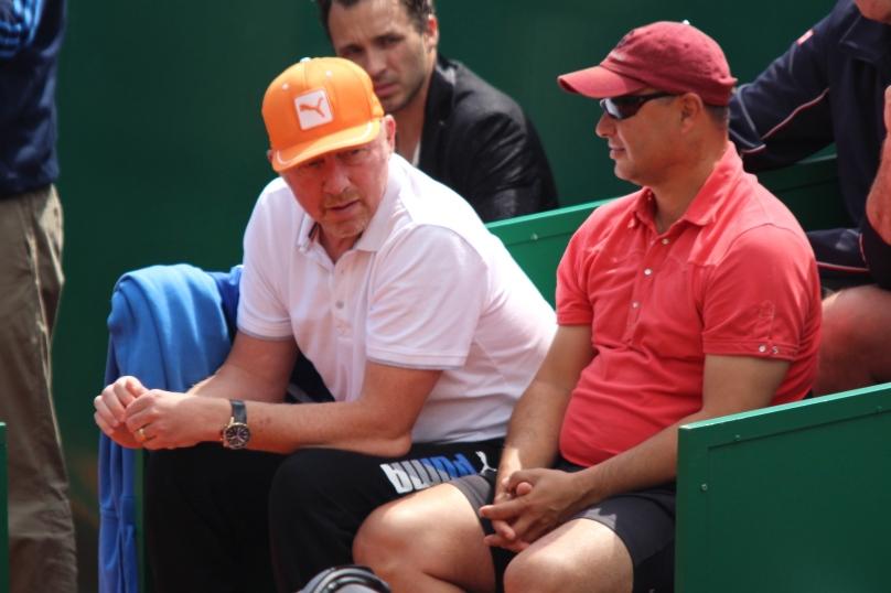 Boris Becker and Marian Vajda in Djokovic's camp @CelinaLafuenteDeLavotha