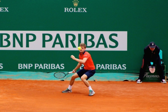 D. Goffin with the ball in the eye! Apr 15, 2015 @CelinaLafuenteDeLavotha