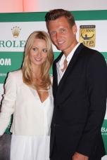Tomas Berdych with fiancee Ester Satorova @CelinaLafuenteDeLavotha