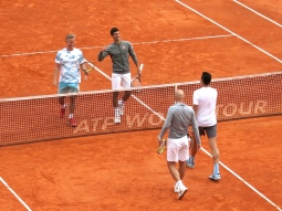Thomas Johansson, Novak DJokovic, Ivan Ljubicic and Milos Raonic @CelinaLafuenteDeLavotha