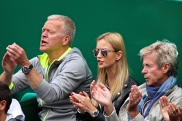 Tomas Berdych camp applauding one of his shots Apr 19, 2015 MCRM @CelinaLafuenteDeLavotha
