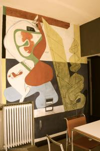 Mural retouched by le Corbusier in 1939, 1949 and 1962 @CelinaLafuenteDeLavotha 05/2015