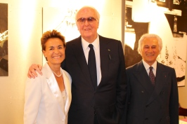 Celina with Hubert de Givenchy and Adriano Ribolzi @ZEL