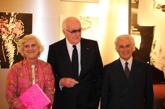 Christiane de Nicolay-Mazery (Book Artistic Director), M Hubert de Givenchy and Adriano Ribolzi @CelinaLafuenteDeLavotha